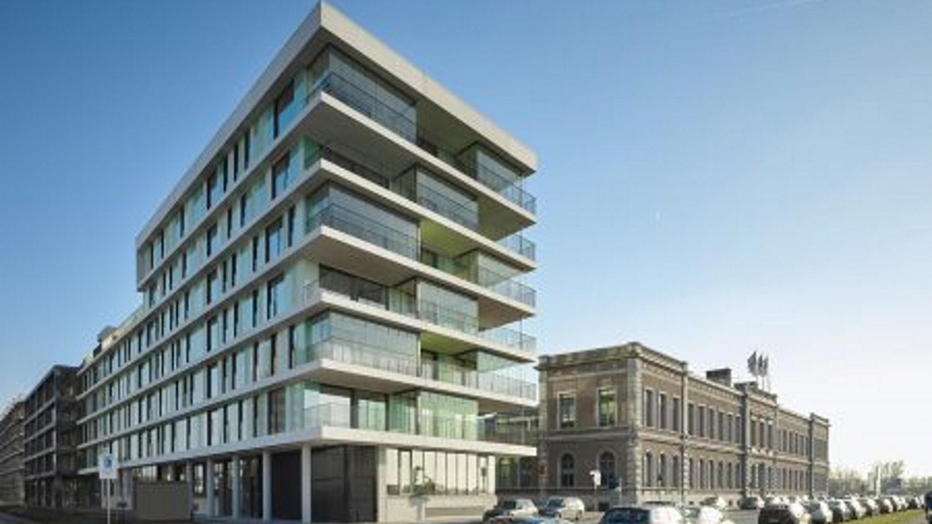 Esthetische sprinklerinstallatie voor hoogbouw Nieuw Zuid Antwerpen 1
